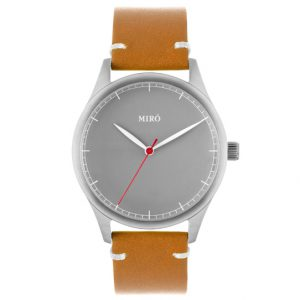 Grey face leather strap